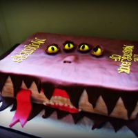 Harry Potter Monster Book * Harry Potter Monster Book of Monsters! All fondant, gumball eyes and buttercream writing!