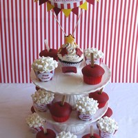 Carnival Cupcakes  Cupcakes to decorate like Carnival foods - with candied apple cupcakes and chocolate cupcakes fillled with marshmallow fluff and fluffy...
