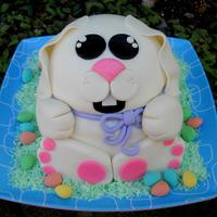 Cute Easter Bunny Cake cute easter bunny cake