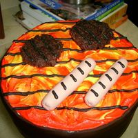 Grill Cake Took inspiration from many here on CC...quick cake for hubby's b-day! (got him a fancy schmancy grill flipping tong thingy for his...
