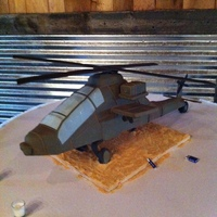 Carved Apache Helicopter Grooms Cake The Rotors Worked Too Carved Apache Helicopter Groom's cake- the rotors worked, too!