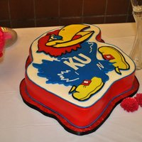 Jayhawk Groomscake Made for a friend's son