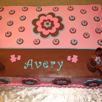 Avery's Baby Shower Made for a friend at work. Designed after the napkins which I forgot to put in the pic of course.