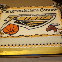 Connor's Signing Cake Not really grad cake, made for son's signing to play basketball in college!