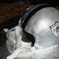 Raiders Helmet   This is my first Raider helmet and decided to make a 2 bar mask because is easier. this is from the 1960's 2 bar helmet