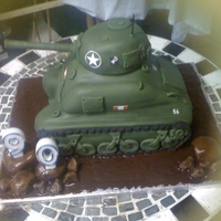 Wwii Sherman Tan Had to transport cake from Canary Islands to UK and then decorate there with no equip for Dad's 90th Birthday. He was in N. Africa and...