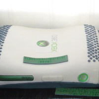 X Box White X Box. Chocolate cake with chocolate cream filling and fondant icing.