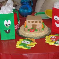 "Veggie Tale Cake My daughter was really into Veggie Tales (specifically ""Little Joe"") when I made this for her 2nd birthday. All characters are..."