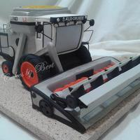 Combine Grooms Cake Gleaner combine made from spice cake.