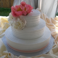 Country Chic Horizontal Line Wedding Cake Country chic horizontal line wedding cake