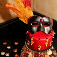 "Masquerade - All Edible! For a party to celebrate a ""Last Saturday Night in My 30s Party,"" which was a masquerade ball. Everything is edible--from the..."