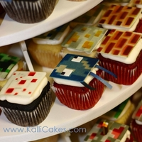 Minecraft Cupcakes The folks at Minecraft granted us one-time permission to create these goodies for a wedding. Hand cut templates were used to airbrush color...