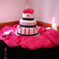 Quinceanera Cake This was the first cake I've ever done for a formal event and the largest. Talk about stressful! I definitely have a lot to practice...