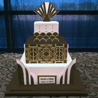 Great Gatsby For a Great Gatsby themed 8th grade formal. All hand cut fondant and gumpaste décor. 6-10-14 inch squares.