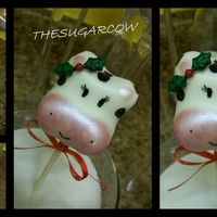 Holycow! Cakepop :) My first Cow cakepop, I think she WAS adorable cause my daughter ate it :O