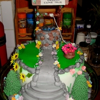 Wishing Well Tried this after getting inspiration from wishing well cakes on CC. Thanks to all of you. Well is in marzipan covered in fondant. Flowers...