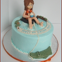 Tubing/lake Themed Cake Did this for an 8 year old that likes to go tubing on the lake. Mother mentioned there are alligators on the lake they like to go to...hope...