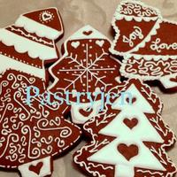 Scandinavian Inspiration These are gingerbread trees inspired by Scandinavian Style Gingerbread. The design for the top left tree was found on a post by Tanyya on...