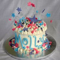 Molly's 6Th Birthday Cake  I may have overdone this a bit. : ) Yellow buttermilk cake, vanilla/amaretto butter cream, and lots and lots of fondant decorations with...