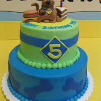 Scooby Doo scooby doo cake for a neighbor's 5 yr old son . chocolate cake with buttercream . scooby , cake slice and hamburger are all fondant...