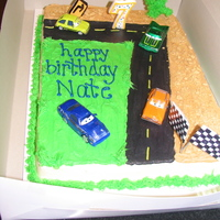 Cars Cars Cake I did for my nephew !