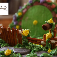 Hobbit Birthday Cake - The Shire Gate to the hobbit hole