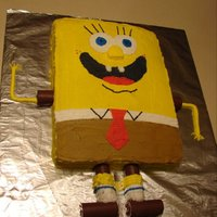 Sponge Bob Cake Used Swiss Rolls w/arm, legs & feet. Everything else is b/c