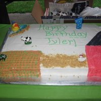 Farm Cake This was for my youngest son's 1st Birthday