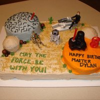 Star Wars Cake My oldest LOVES Star Wars! Made this for his 8th bday.