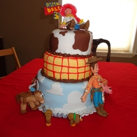 Toy Story Birthday Cake I made this cake for my 3 year old daughter, who loves Toy Story. I spent about a month making the 10 different figures out of gumpaste and...