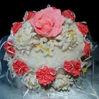 Floral Arrangement Cake Inspired by a floral arrangement to look like a cake. My version of a lady balitmore cake w/ gum paste and fondant flowers and coconut. The...