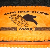 Camp Half Blood Cake   FBC transfer. Marble cake w/ vanilla bc. For a friends daughters B-day. TFL