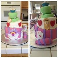Alice In Wonderland Made for a family friend. Inspired by the awesome cakes of others.