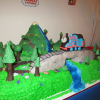 Thomas The Train Made this for my son's 3rd birthday