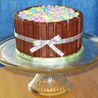 Kit Kat Easter Cake strawberry cake with cream cheese frosting.
