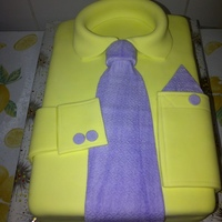 Shirt And Tie Cake A father's day cake made with a rectangle sheet pan.