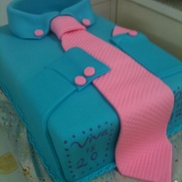 Shirt And Tie Cake A rectangle sheet pan, covered and decorated with fondant.