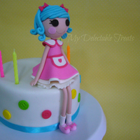 Lalaloopsy Rosy Bumps Birthday Cake My take of the Lalaloopsy Rosy Bumps Character. The figure was inspired by Delicias Com Amor e Carinho who makes the most adorable cake and...