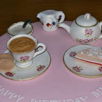 Tea Party Tea Party, first cup and saucer i have done , dont think it loos too bad.