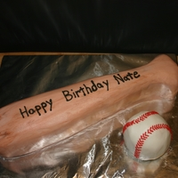 Baseball   ball and bat made of cake