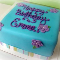 Blue And Purple Birthday