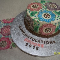 Graduation Cake For My Niece She Wanted It To Match Her Napkins graduation cake for my niece, she wanted it to match her napkins