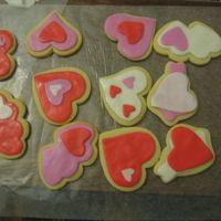 More Valentine Cookies My second time playing with cookies! NFSC with rolled buttercream. I love these cookies! For my DD's preschool valentine party...