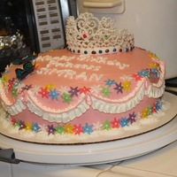 Tiara Cake   Tiara Cake, with Royal icing tiara and gelatin butterflies.Chiffon cake with whipped cream...