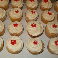 Red Flower Cupcakes