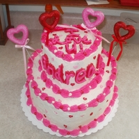 Valentines Day Heart Cake