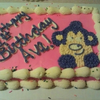 Pink Monkey Cake And Smash Cake
