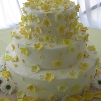 Yellow Flowers Buttercream with fondant flowers