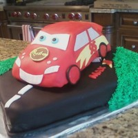 Cars Cake Made for a friend - got the idea from CC - thanksAll fondant accents - used Wilton car pan