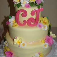 Tropical Graduation Cake